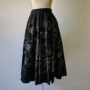 Vintage Mexican painted 50s souvenir circle skirt